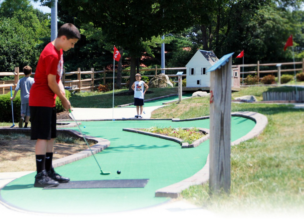 Beautifully landscaped Mini Golf!